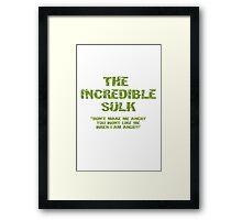 The Incredible Sulk Framed Print