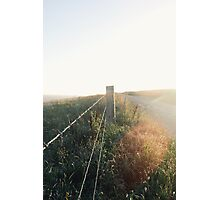 Barbed wire fence. Photographic Print