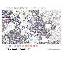 Multiple Deprivation Stratford & New Town ward, Newham Photographic Print