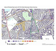 Multiple Deprivation Stoke Newington ward, Hackney Photographic Print