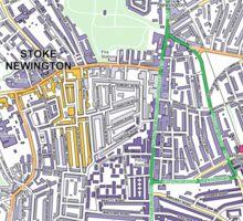 Multiple Deprivation Stoke Newington ward, Hackney Sticker