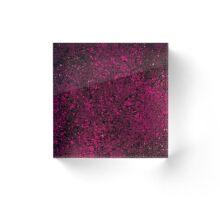 Raspberry Crumble Acrylic Block