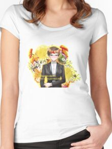 Jaehee +quote (blush face version) Women's Fitted Scoop T-Shirt