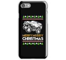 Mud Truck Ugly Christmas Sweater T-Shirts iPhone Case/Skin