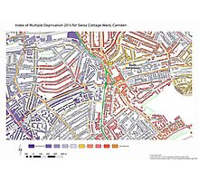 Multiple Deprivation Swiss Cottage ward, Camden Photographic Print