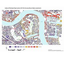 Multiple Deprivation Surrey Docks ward, Lewisham Photographic Print