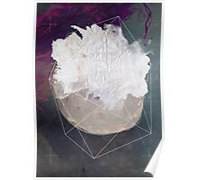 Abstract white volcano Poster