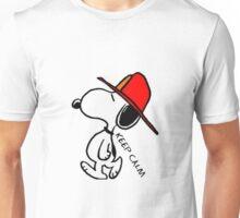 Snoopy caminando Unisex T-Shirt