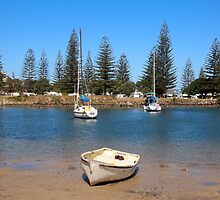 Anyone for fishing!  Yamba on the mouth of the Clarence River, NSW Australia by Margaret Morgan (Watkins)