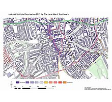 Multiple Deprivation The Lane ward, Southwark Photographic Print