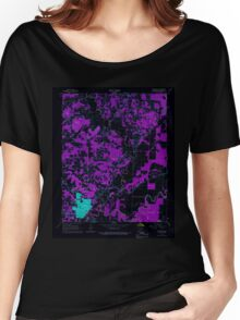 USGS TOPO Map Arkansas AR Pocahontas 259422 1966 24000 Inverted Women's Relaxed Fit T-Shirt