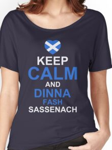 Keep Calm and Dinna Fash Outlander Shirt Women's Relaxed Fit T-Shirt