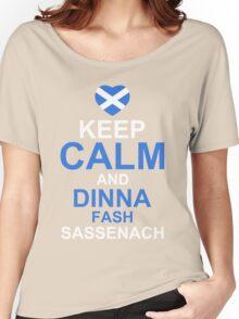 Keep Calm and Dinna Fash Outlander Shirt Women's Relaxed Fit T-Shirt