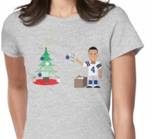 QB Christmas (Dak) Womens Fitted T-Shirt