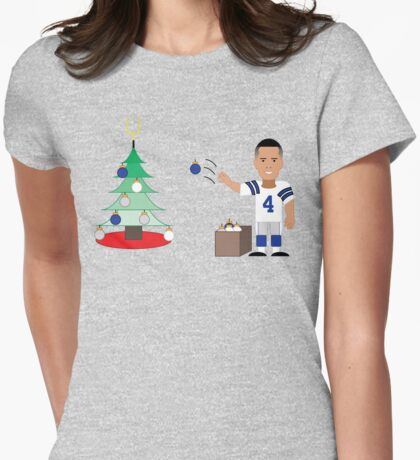 QB Christmas (Dak) Womens Fitted T-Shirt
