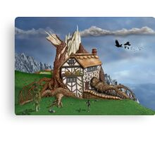 Fantasy Tree House Canvas Print