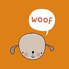 'Woof' said the dog by stamptout