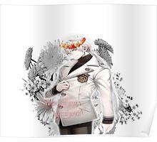 Zen flower crown +quote blush fac Poster