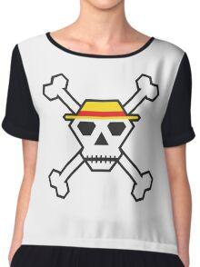 Custom Minimal Pirate Flag (The Straw Hats) Chiffon Top