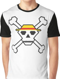 Custom Minimal Pirate Flag (The Straw Hats) Graphic T-Shirt