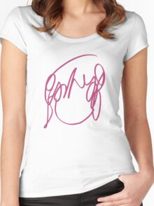 Have you seen a girl with hair like this? Women's Fitted Scoop T-Shirt