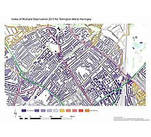 Multiple Deprivation Tollington ward, Haringey Photographic Print