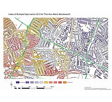 Multiple Deprivation Thornton ward, Wandsworth Photographic Print