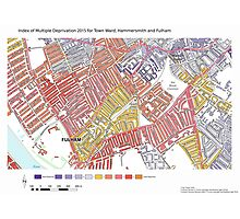 Multiple Deprivation Town ward, Hammersmith & Fulham Photographic Print