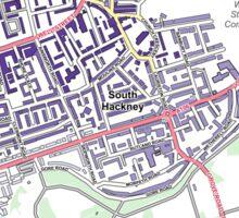 Multiple Deprivation Victoria ward, Hackney Sticker