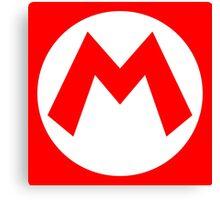 Mario Emblem (hollow) Canvas Print