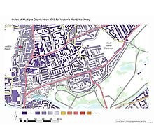 Multiple Deprivation Victoria ward, Hackney Photographic Print