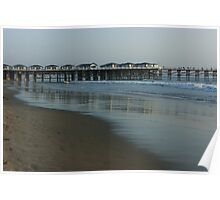 Pastel California Sunset at San Diego's Crystal Pier  Poster