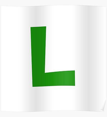 Luigi Emblem Poster