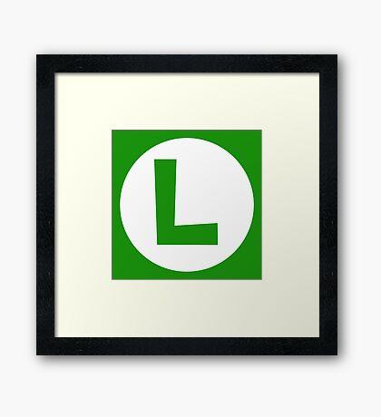 Luigi Emblem (hollow) Framed Print
