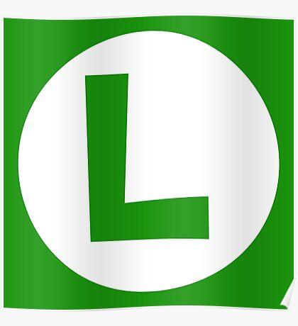 Luigi Emblem (hollow) Poster