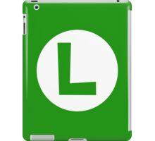 Luigi Emblem (hollow) iPad Case/Skin