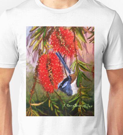 """Blue Wren  """"Wren's Chatter""""  SOLD Brisbane T-Shirt"""