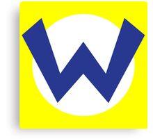 Wario Emblem Canvas Print