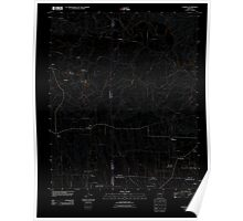 USGS TOPO Map Arkansas AR Nathan 20110713 TM Inverted Poster