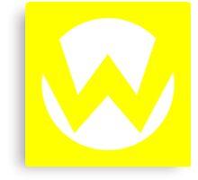 Wario Emblem (hollow) Canvas Print