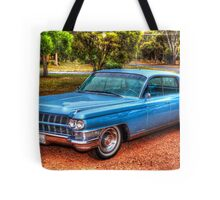 Cadillac in the rain Tote Bag