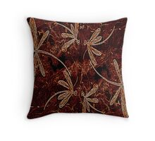Dragonfly Toffee Flit Throw Pillow