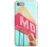 Vintage Americana Motel Sign iPhone Case/Skin