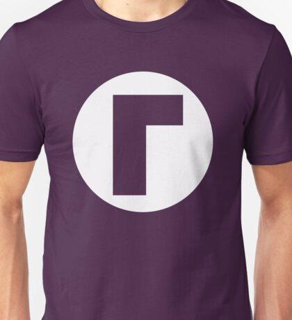 Waluigi Emblem (hollow) Unisex T-Shirt