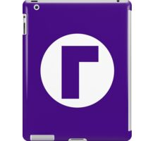 Waluigi Emblem (hollow) iPad Case/Skin