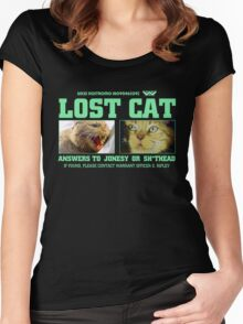 Lost Cat : Inspired by Alien Women's Fitted Scoop T-Shirt