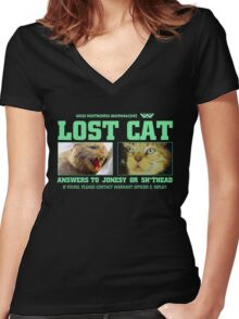 Lost Cat : Inspired by Alien Women's Fitted V-Neck T-Shirt