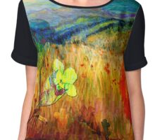 At the Edge of Dreaming Fields Chiffon Top