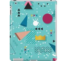 80s Memphis Pattern Teal iPad Case/Skin