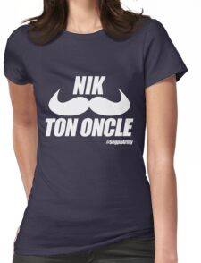 Nik Ton Oncle Version Blanche - Segpa Army Womens Fitted T-Shirt